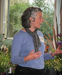 Amy speaking at a meeting of the Multnomah Garden Club