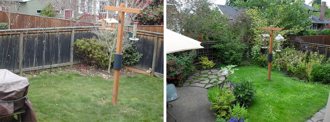 Backyard Garden Irrigation : Before and after